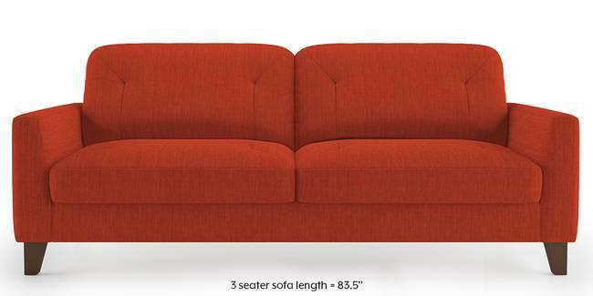 Bradford Sofa (Lava Rust) (1-seater Custom Set - Sofas, None Standard Set - Sofas, Lava, Fabric Sofa Material, Regular Sofa Size, Regular Sofa Type)