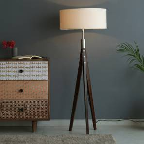 Diego Floor Lamp (White Shade Color) by Urban Ladder