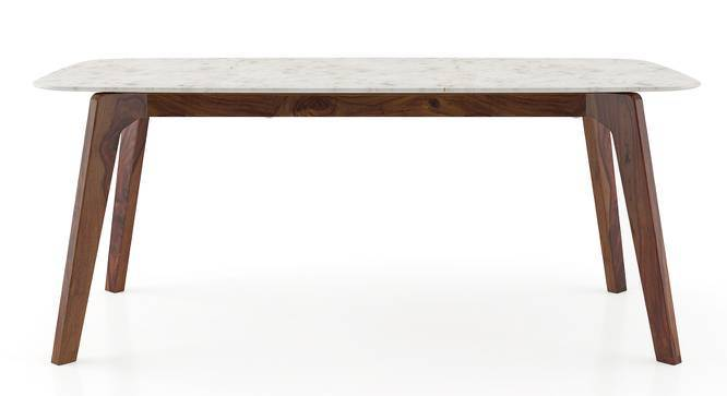 Galatea Marble Dining Table (Teak Finish) by Urban Ladder