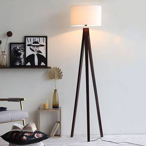Boca Floor Lamp (Walnut Base Finish) by Urban Ladder