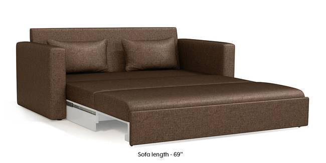 Apollo Sofa Cum Bed (Mocha Brown) (3-seater Custom Set - Sofas, None Standard Set - Sofas, Mocha, Fabric Sofa Material, Regular Sofa Size, Regular Sofa Type)