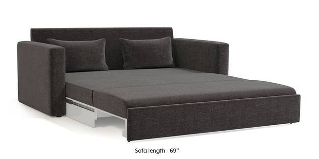 Apollo Sofa Cum Bed (Smoke Grey) (3-seater Custom Set - Sofas, None Standard Set - Sofas, Smoke, Fabric Sofa Material, Regular Sofa Size, Regular Sofa Type)