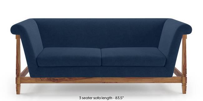 Malabar Wooden Sofa (Lapis Blue) (1-seater Custom Set - Sofas, None Standard Set - Sofas, Fabric Sofa Material, Regular Sofa Size, Soft Cushion Type, Regular Sofa Type, Lapis Blue)
