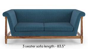 Malabar Wooden Sofa (Colonial Blue)