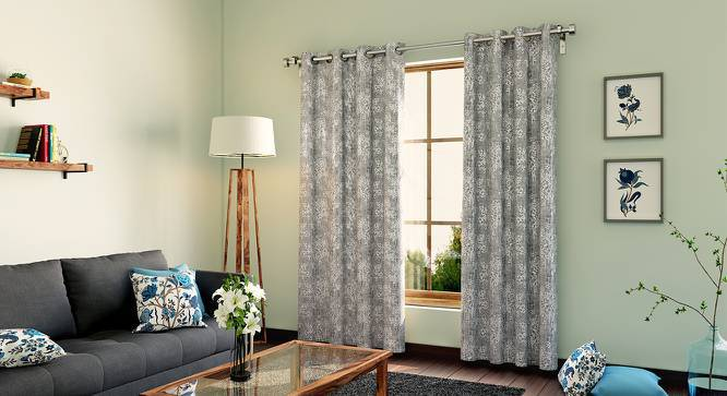 "Dunham Door Curtains - Set Of 2 (Grey, 52""x108"" Curtain Size) by Urban Ladder"