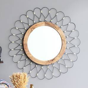 Como Wall Mirror (Black Finish) by Urban Ladder