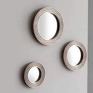 Wanaka Wall Mirror - Set Of 3 (Natural Finish) by Urban Ladder
