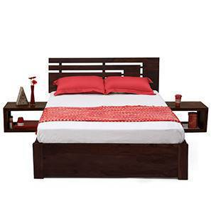 Stockholm Storage Essential Bedroom Set  (Mahogany Finish) (King Bed Size) by Urban Ladder