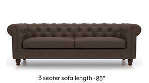 Winchester Fabric Sofa (Mocha Brown)