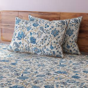 Calico Bedsheet Set (King Size, Indigo Pattern) By Urban Ladder