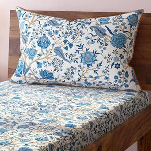 Calico Bedsheet Set (Single Size, Indigo Pattern) by Urban Ladder