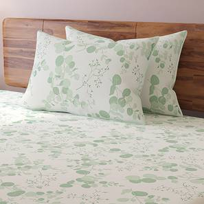 Wilderness Bedsheet Set (Double Size, Branching Free   Teal) By Urban Ladder