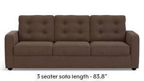 Apollo Tufted Sofa (Daschund Brown)