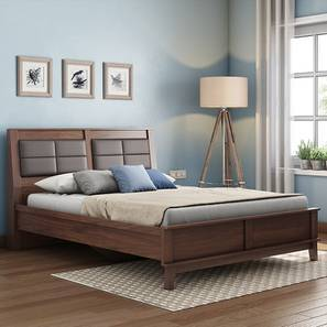 Pico Bed (Walnut Finish, Queen Bed Size) by Urban Ladder