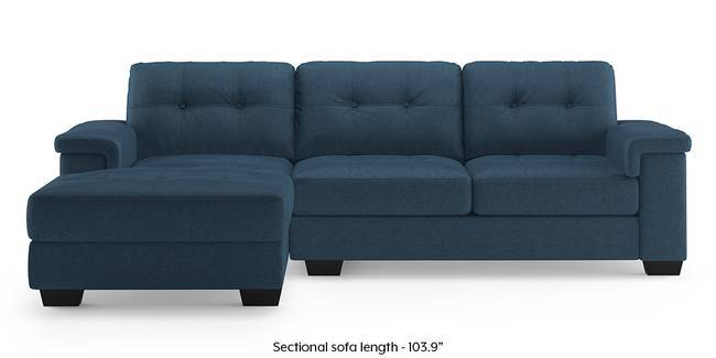 Turin Sectional Sofa (Blue) (Blue, Right Aligned 3 Seater Custom Set