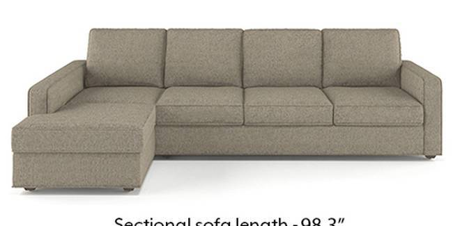 Apollo Sofa Set (Mist, Fabric Sofa Material, Compact Sofa Size, Soft Cushion Type, Sectional Sofa Type, Sectional Master Sofa Component, Regular Back Type, Regular Back Height)