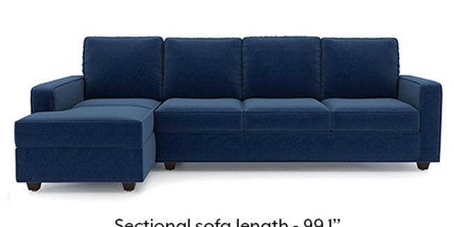 Apollo Sofa Set (Cobalt, Fabric Sofa Material, Compact Sofa Size, Soft Cushion Type, Sectional Sofa Type, Sectional Master Sofa Component, Regular Back Type, Regular Back Height)
