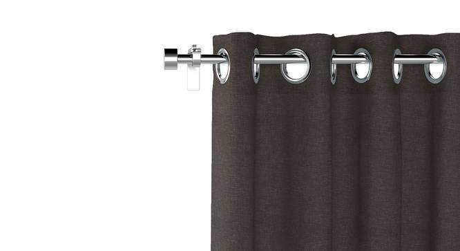 """Ethos Door Curtains - Set Of 2 (Charcoal Grey, 52""""x84"""" Curtain Size) by Urban Ladder"""