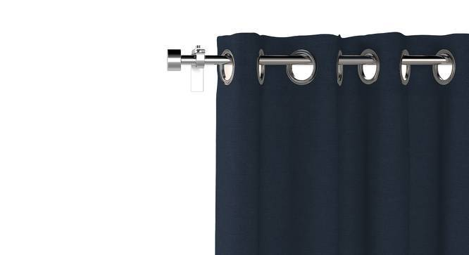 """Ethos Door Curtains - Set Of 2 (52""""x108"""" Curtain Size, Midnight Blue) by Urban Ladder"""