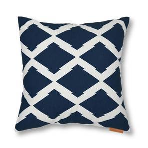 Trellis Cushion Cover - Set Of 2 (Navy) by Urban Ladder