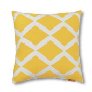 Trellis Cushion Cover - Set Of 2 (Yellow) by Urban Ladder