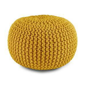 "Carmen Pouffe (Yellow, 16""' x 16"" Size) by Urban Ladder"