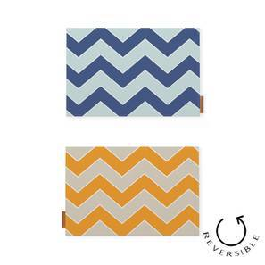 Chevron Herringbone Reversible Placemat (Set of 6) (Multi Colour) by Urban Ladder