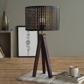 Nevada Table Lamp-Dark Walnut (Dark Walnut Base Finish) by Urban Ladder