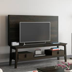 Satori TV Unit (American Walnut Finish, With Wall Panel TV Unit) by Urban Ladder
