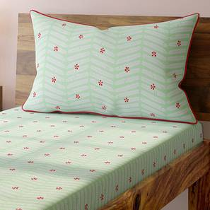 Gulmohar Bedsheet Set (Single Size, Multi Colour, Pinnate Pattern) by Urban Ladder