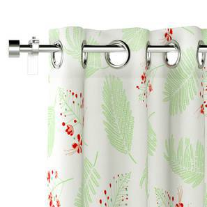 "Gulmohar Door Curtains - Set Of 2 (Multi Colour, 54""x84"" Curtain Size, Floret Pattern) by Urban Ladder"