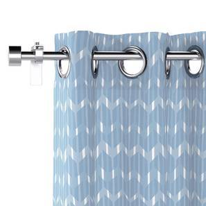"Overlay Window Curtains - Set Of 2 (Blue, 54"" x 60"" Curtain Size) by Urban Ladder"