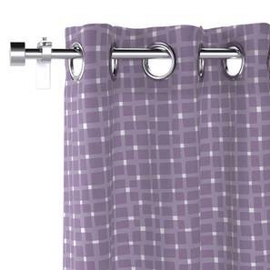 "Overlay Door Curtains - Set Of 2 (Purple, 54""x84"" Curtain Size) by Urban Ladder"
