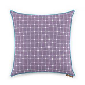 """Overlay Cushion Cover - Set Of 2 (Purple, 18"""" X 18"""" Cushion Size, Asscher Pattern) by Urban Ladder"""