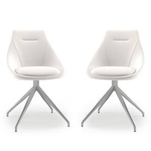Doris Dining Chairs - Set Of 2 (White, Leatherette Material) by Urban Ladder