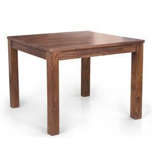 Arabia Square 4 Seater Dining Table (Teak Finish) by Urban Ladder