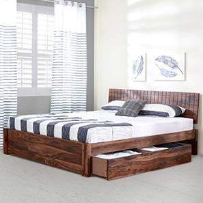 Valencia Storage Bed (Teak Finish, King Bed Size) by Urban Ladder