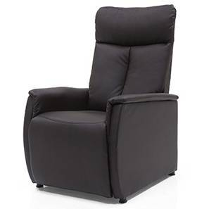Bertie Compact Recliner (Chocolate Brown Leatherette) by Urban Ladder
