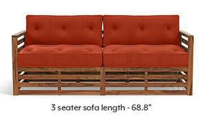 Raymond Low Wooden Sofa - Teak Finish (Lava)