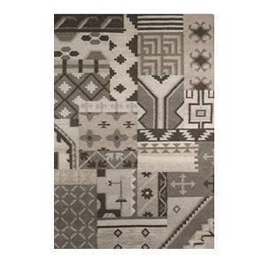 "Gelim Woolen Dhurrie (Grey, 55"" x 79"" Carpet Size)"