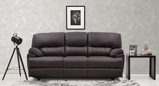 Holmes Sofa 3-Seater (Non-reclining) (Chocolate) by Urban Ladder