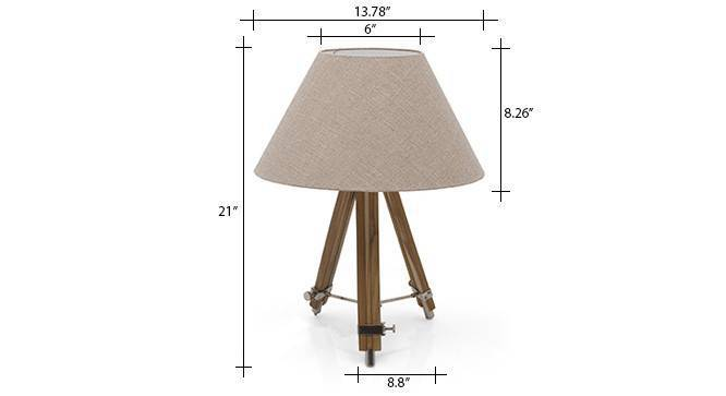 Kepler tripod table lamp natural linen conical shade 6 img 0147 dm