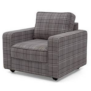 Apollo Armchair Houndstooth (Smoke Grey) by Urban Ladder