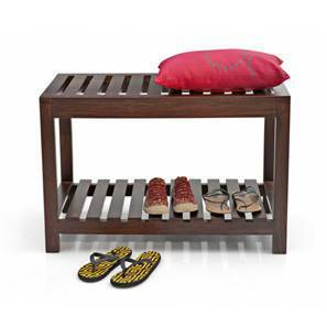 Marco Entryway Bench (Mahogany Finish) by Urban Ladder
