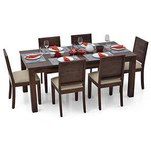 Arabia XL - Oribi 6 Seater Dining Set (Mahogany Finish, Wheat Brown)