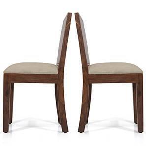Oribi Dining Chairs - Set of 2 (Teak Finish, Wheat Brown) by Urban Ladder