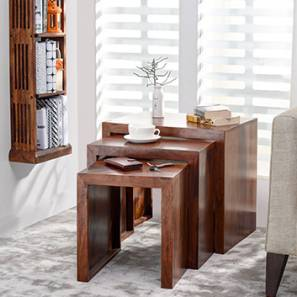 Hamilton Nested Stools (Teak Finish) by Urban Ladder & Side table End table Living Room Table | Shop furniture online ...