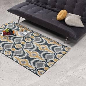 "Kalosi Hand Tufted Carpet (42"" x 66"" Carpet Size, Mustard & Charcoal) by Urban Ladder"