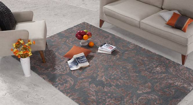 "Savoy Hand Tufted Carpet (Grey, 60'' x 93"" Carpet Size) by Urban Ladder"