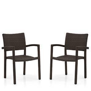 Danum Patio Armchairs (Set of 2) (Brown)